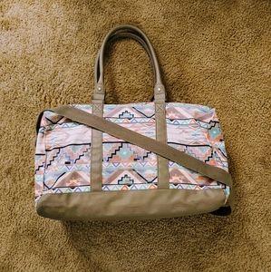 Pastel Aztec Print Weekender/Duffle Bag